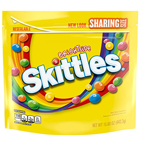 Skittles Brightside Sharing Size Candy, 15.6 Oz Bag (Pack of 6)