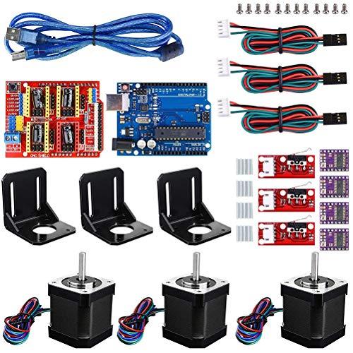 3D Printer CNC Controller Kit for ArduinoIDE CNC Shield Board Mechanical Switch Endstop DRV8825 A4988 Stepper Motor Driver Nema 17 Stepper Motor