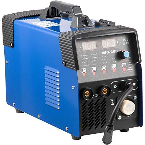VEVOR MIG 200 A Schutzgas Inverter Schweißgerät, 3-in-1 Schweißmodi (MIG/WIG/MMA), Wig Schweißgerät mit IGBT-Technologie und integriertem Drahtvorschub, IP21 Wasserdicht, 1 x1 KG Schweißdraht