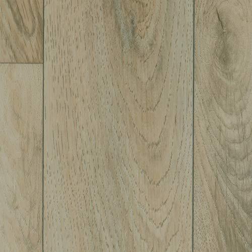PVC Vinyl-Bodenbelag in Eiche Beige Grau | PVC-Belag verfügbar in der Breite 4 m & in der Länge 3,5 m | CV-Boden im Vintagelook wird in benötigter Größe als Meterware geliefert | rutschhemmend