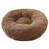 Decdeal - Cama redonda para gatos - Cómoda y suave con una pelota de hilo sisal - Cama cucha para animales domésticos, para dormir y descansar en invierno