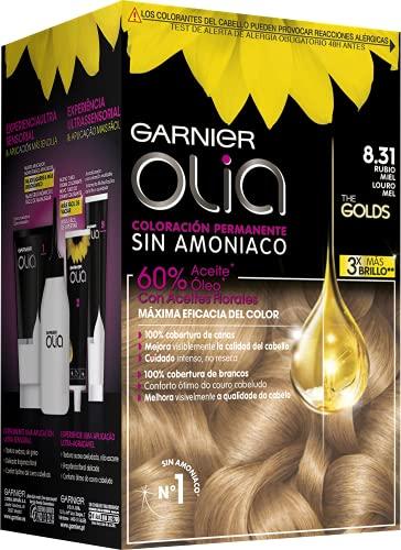 Garnier Olia Coloración Permanente Sin Amoniaco Para Un Olor Agradable Con Aceites Florales De Origen Natural - Rubio Miel 8.31