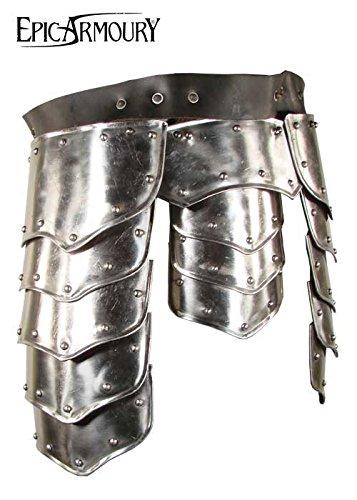 Jambe poches Warrior en acier hanche Protection Protège hanches Schau la lutte tauglich LARP médiéval viking S Silber