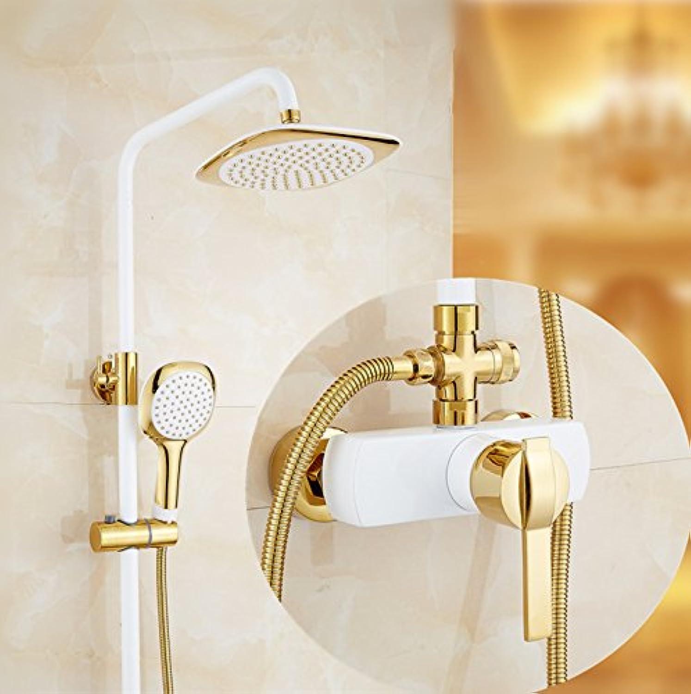 Bijjaladeva Wasserhahn Bad Wasserfall Mischbatterie Waschbecken WaschtischDusche Set Home Wand Dusche Wasserhahn Mischen von heiem und kaltem Wasser Duschen Armaturen G