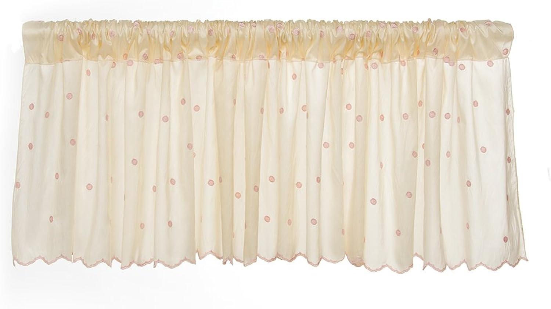 Glenna Jean Florence Window Valance, Taupe Pink