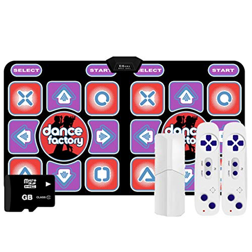 Hoge kwaliteit Dance Mats for Dancer Wireless Double Somatosensorische Game Machine Running Deken Yoga Mat Gift Memory Card -dansmat game tv (Color : Purple, Size : Wireless AV)