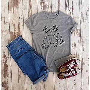 Bio-Baumwolle, feministische T-shirt, Feminismus Shirt, Elefant T-shirt, handgezeichnett T-shirt