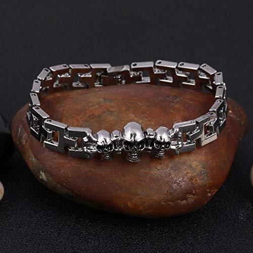 Jewellery Bracelets Bangle For Womens 316L Stainless Steel Cool Men Steel Man Skull Charms Bracelet Chain Bracelets & Bangles-Sl514