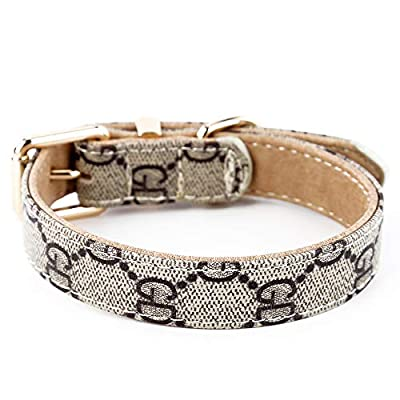 SuperBuddy Leather Dog Collar?Adjustable Collar with Heavy Duty Metal Buckle?Premium Quality Soft Touch for Small Medium Large Dogs