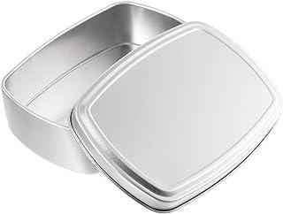 Cabilock Portasapone in Alluminio 2 Pezzi Portasapone Antipolvere Contenitori Vuoti per Sapone con Coperchio per Viaggi a Casa 100 Ml