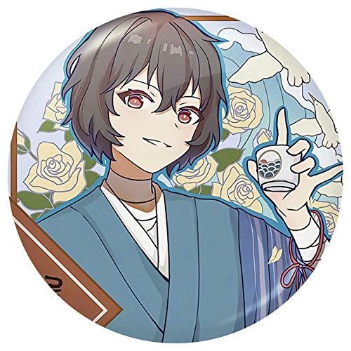 Saicowordist Bungo Streunhunde Button Pins Metall Abzeichen Cartoon Brosche Pins Kleidung Zubehör Anime Fans Geschenk für Jungen und Mädchen (Osamu Dazai)