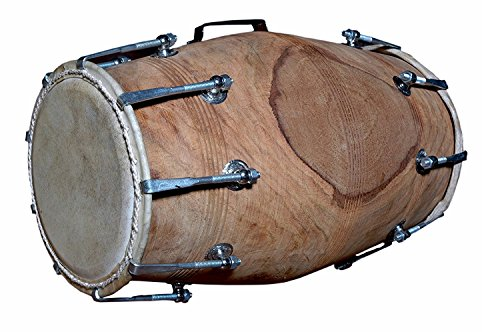 Folk Indian Sheesham Nut Bolt verschärft Dholak Percussion Musical Dhol mit Tasche, Bulk/Wholesale also Available at Discount Price