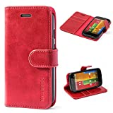 Mulbess Motorola Moto G Case Wallet, Leather Flip Phone