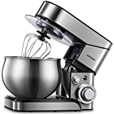 Aicook Stand Mixer, 5.8 Qt. Food Mixer, 6-Speed Kitchen Electric Mixer with Dishwasher-Safe Dough Hooks, Flat Beaters, Unique Wire Whip(Teflon Coated Attachments)