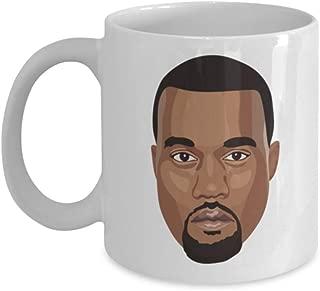 Kanye West Cartoon Head Gift Idea Ye Yeezy Graduation Office Gift 11oz