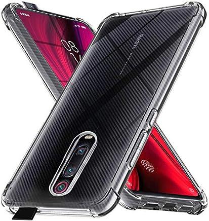Ferilinso Funda para Xiaomi Mi 9T Funda, [Reforzar la versión con Cuatro Esquinas] [Funda Protectora de la cámara] Funda Silicona de Piel de Goma TPU a Prueba de Goma Suave (Transparente)