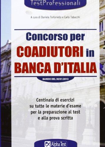 Concorso per coadiutori in Banca d'Italia