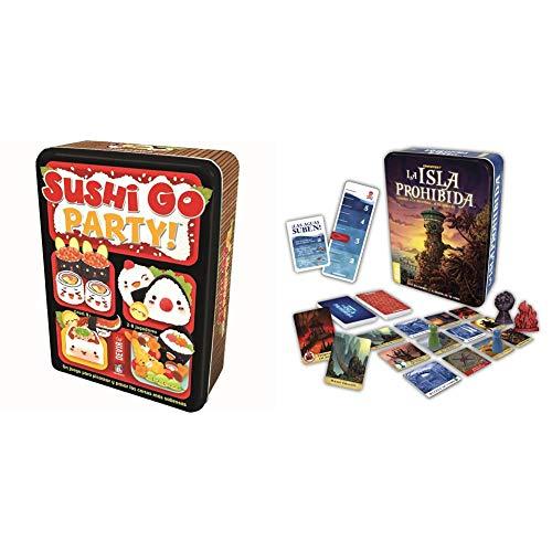 Devir Sushi Go Party: edición en Castellano, Juego de Mesa (BGSGPARTY) + La Isla Prohibida Juego de Mesa, Multicolor (Bgisla)