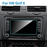 SHENYF 6.5 inch Car GPS Navigation Screen Protector for Volkswagen VW Golf 6 2010-2015 Auto Interior Tempered Glass Car Accessories (Color Name : 1pc)
