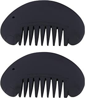 Healifty 2pcs Gua Sha Scraping Massage Tools Hair Comb Jade Guasha Board Combs for SPA Acupuncture Trigger Point Treatment on Face and Body