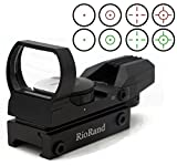 RioRand RR-RG-DS-TR Tactical 4 Reticle Red Dot Open Reflex Sight with Weaver-Picatinny Rail