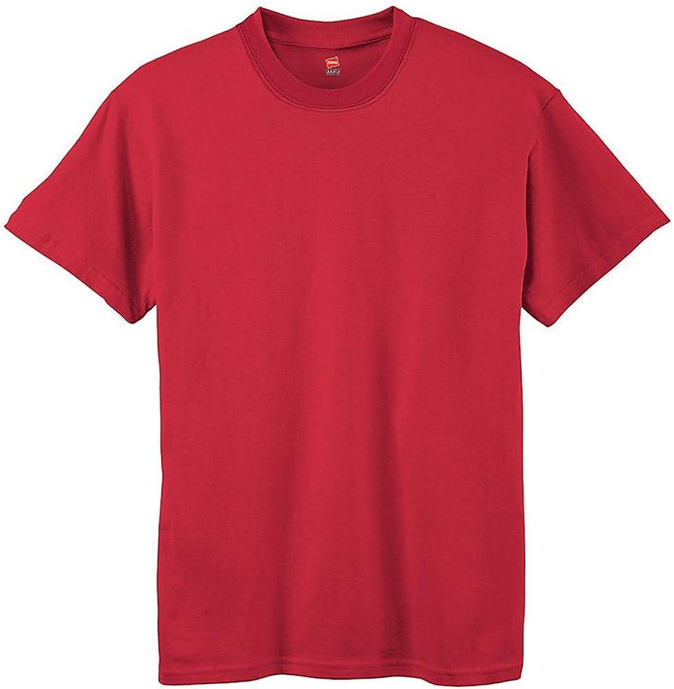 Hanes by Boys' Tagless ComfortSoft Crewneck T-Shirt_Deep Red_XL