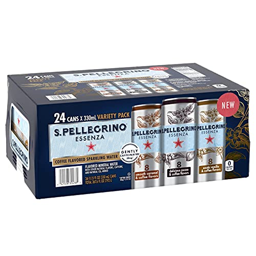 S.Pellegrino Essenza Caffe Variety Pack, 11.15 fl Ounce . Cans (24 Count), 11.15 Fl Ounce (Pack of 24)
