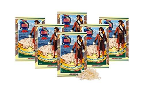 Tintenfischstreifen - Original (6 x 36g Pack) I Natur Snack getrocknet u. gesalzen I Low Carb I High Protein I Low Fat I Fitness Snack I Trockenfisch reich an Omega 3 I für Männer u. Frauen