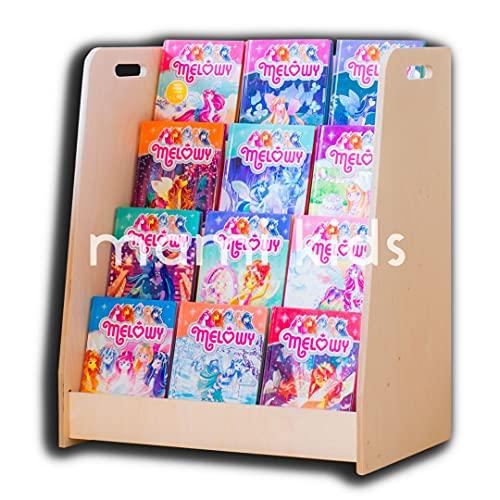 MAMI - Librería Montessoriana de madera para niños | Dormitorio infantil | Porta libros cómics cuadernos | 100% Made in Italy | 4 estantes | Modelo D