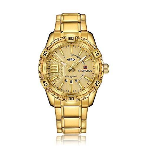 NAVIFORCE Herren Uhren Quarz Männlichen Uhr Leucht Armbanduhr Kalender Zeitanzeige