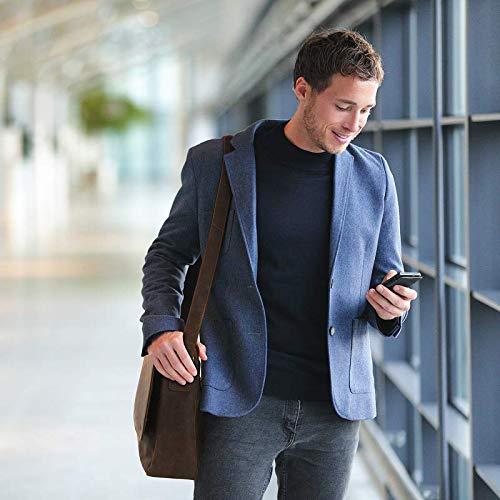 Ledertasche Herren Bag von TALED - 15,6 Zoll inkl. Schulterpolster und Gurt - Hochwertige Echtleder Messenger mit E-Book - Laptop Bag Uni, Arbeit, Schule
