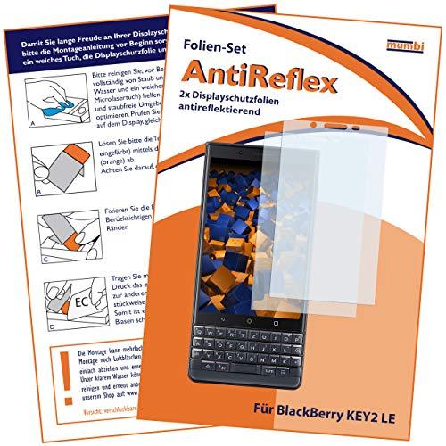 mumbi Schutzfolie kompatibel mit BlackBerry KEY2 LE Folie matt, Bildschirmschutzfolie (2X)