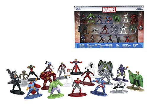 Jada Toys Marvel 1.65'' Die-cast Metal Collectible Figures 20-Pack Wave 5, Toys for Kids and Adults (32417)