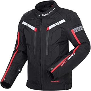 Baosity Motorcycle Jacket for Men - Motorbike Racing Biker Riding Windproof Waterproof Armored Body Protector Safety Cloth...