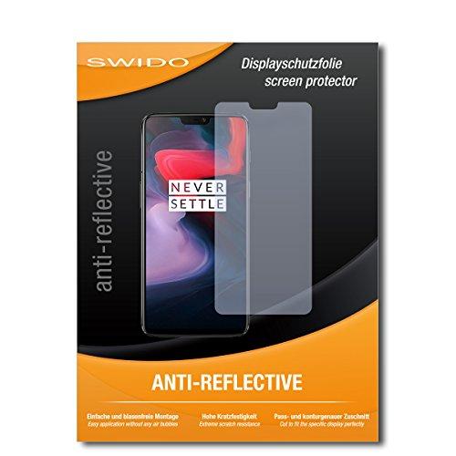 SWIDO Schutzfolie für OnePlus 6 [2 Stück] Anti-Reflex MATT Entspiegelnd, Hoher Festigkeitgrad, Schutz vor Kratzer/Bildschirmschutz, Bildschirmschutzfolie, Panzerglas-Folie