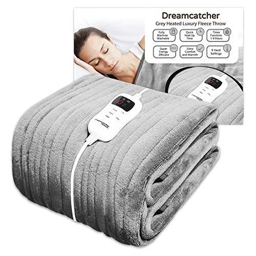 Dreamcatcher Luxurious Electric Heated Throw, Large 160 x 120cm Soft Fleece...