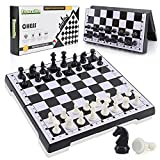 Chess Board Set Magnetic Chess Set Travel Chess Board Game Sets for Kids and Adults Portable Folding Board Storage for Chess Pieces