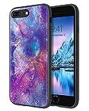 Funda para iPhone 8 Plus 7 Plus, iPhone 8 Plus, diseño de nebulosa morada, ajuste delgado, luminoso, brillante, ligero, antideslizante, carcasa flexible de TPU para iPhone 7 8 Plus, color morado