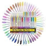 Bolígrafos de Gel,48 Set Boligrafos Incluye Brillo, Neón, Pastel, Metálico