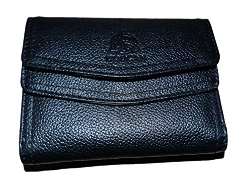 Luxury Real Leather Boxed Wallet Purse in Black (9178)