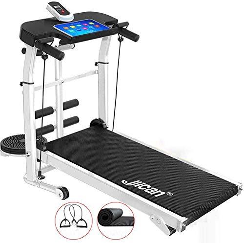 COUYY Tragbare Falten Nicht elektrische motorisierte Decathlon Laufband, Walking Laufen Jogging Fitness-Maschine für Heim 30 Minute Workout Laufband Laufband