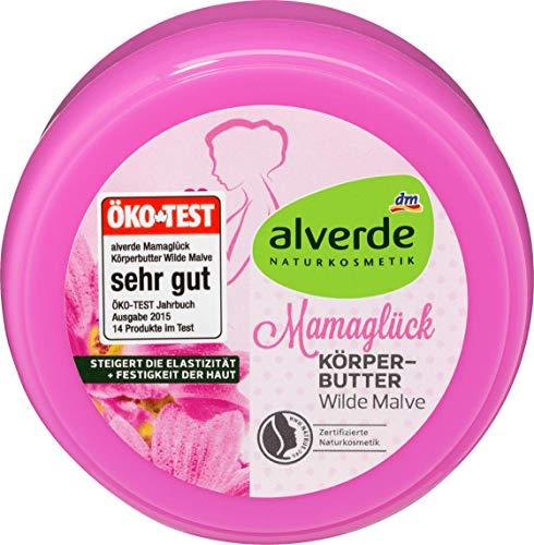 alverde NATURKOSMETIK Mamaglück Körperbutter Wilde Malve, 200 ml