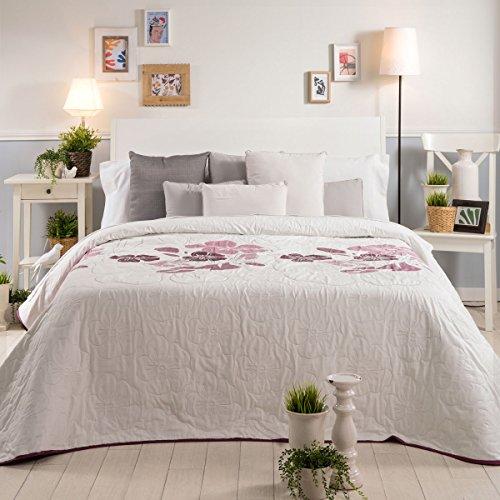 Sancarlos Tagesdecke Modern Sofia, Polyester, lila, Doppelbett, 235x 270x 1cm