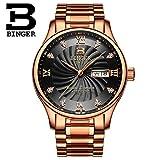 Adult Quartz Watch Men's Wristwatch with Week Calendar Display Crystal Diamond Decoration Dial