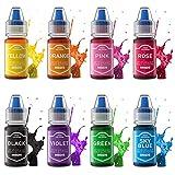 Colorante Alimentario liquido 8 Colores Colorante Comestible Alto Concentrado para Colorear Reposteria Pasteles Macaron Galletas Rosquillas