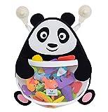 Nooni Care Organizzatore Conservare i Giocattoli del Bagnetto, Sacca a Rete da Bagno Premium per Giocattoli a Forma di Panda Grasso, con Due Ventose Resistenti