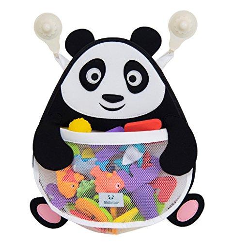 Nooni Care Bad Spielzeug Aufbewahrung, Premium Kinder Bad Spielzeugkorb Dicker Panda, mit Zwei starken Saugnäpfen