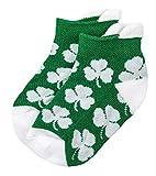 NCAA Notre Dame Fighting Irish Unisex Irish Baby Footie Sockirish Baby Footie Sock, Green, Bax 12-24 Months