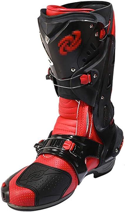 Wert Motorradstiefel Für Männer Sport Rüstung Motocross Schutz On Road Boot Anti Rutsch Schuhe Mit Hohem Knöchel Radfahren Sicherheitsstiefel Sport Freizeit