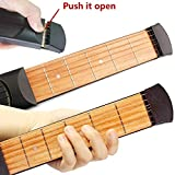 Greenten Pocket Guitar Practice Strings Tool Gadget 6 Fret Portable Finger Guitars...